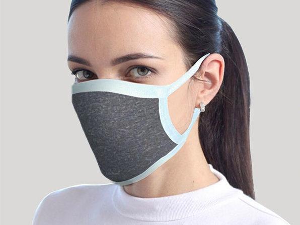 Reusable Face Masks: 4-Pack (Gray)