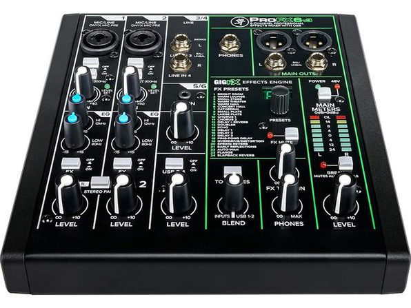 Mackie ProFX6v3 Series, 6-Channel Professional Effects Mixer with USB, Unpowered (Like New, Damaged Retail Box)