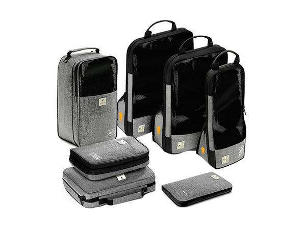 Vasco 7-Piece Smart Packing Cube Set (Grey)