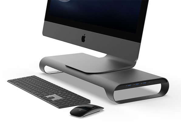 ProBASE C Aluminum Monitor Stand (Space Grey)
