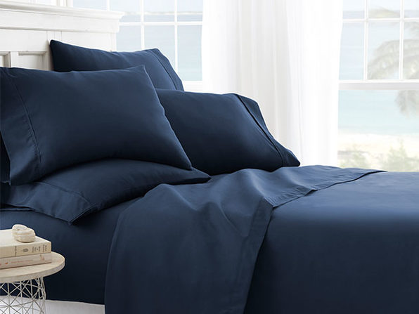 6-Piece Sheet Set - Queen//Navy - Product Image