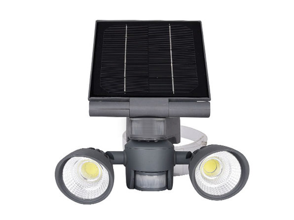 Motion-Activated Solar Outdoor LED Lights (2 x 5W COB Flood Lights)