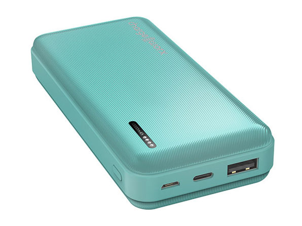ChargeWorx 10,000mAh Dual USB Slim Power Bank (Mint)