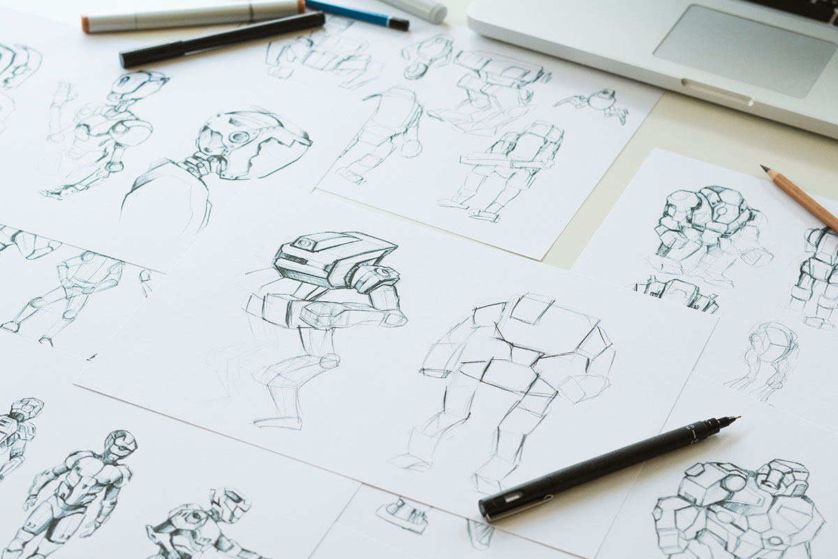 Drawings of robots