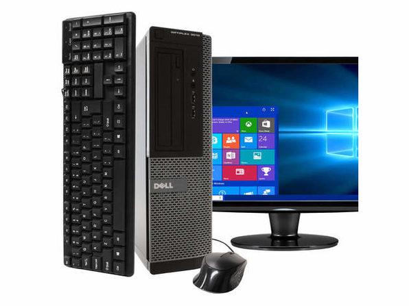 """Dell OptiPlex 3010 Desktop PC, 3.2 GHz Intel i5 Quad Core Gen 3, 4GB DDR3 RAM, 500GB SATA HD, Windows 10 Home 64 bit, 22"""" Screen (Renewed)"""