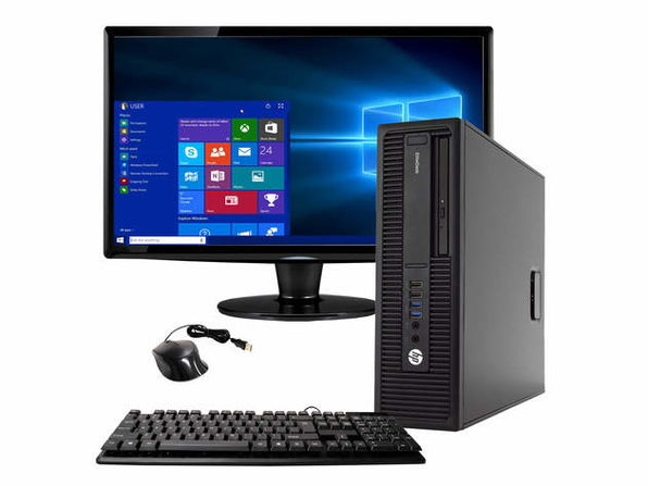 "HP EliteDesk 800 G2 Desktop PC, 3.4GHz Intel i5 Quad Core Gen 6, 8GB RAM, 500GB SATA HD, Windows 10 Home 64 bit, 22"" Widescreen Screen (Renewed)"