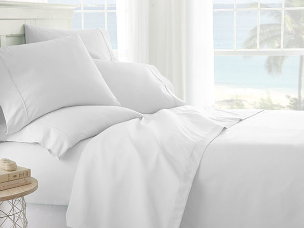 White 6-Piece Sheet Set - Cal King - Product Image