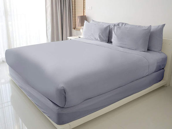 100% Egyptian Cotton Sheet Set (Silver)