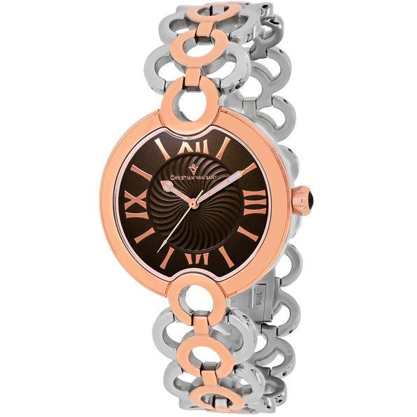 Christian Van Sant Women's Twirl Brown Dial Watch - CV2816 - Product Image