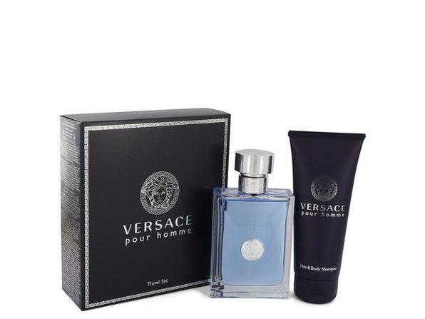 Versace Pour Homme by Versace Gift Set -- 3.4 oz Eau De Toilette Spray + 3.4 oz Shower Gel