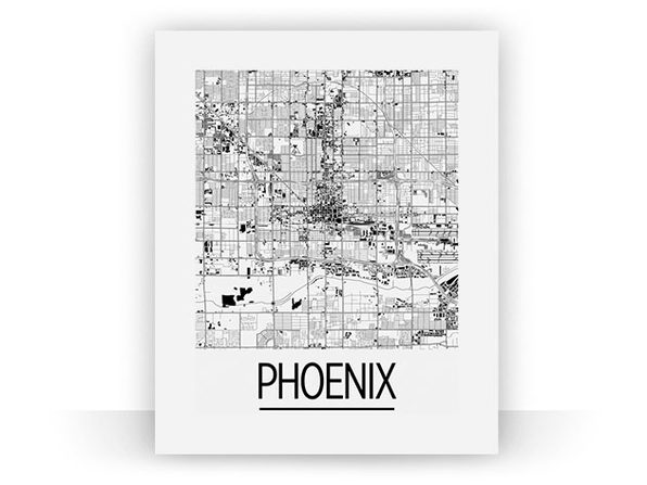 Phoenix Art Deco Map Print