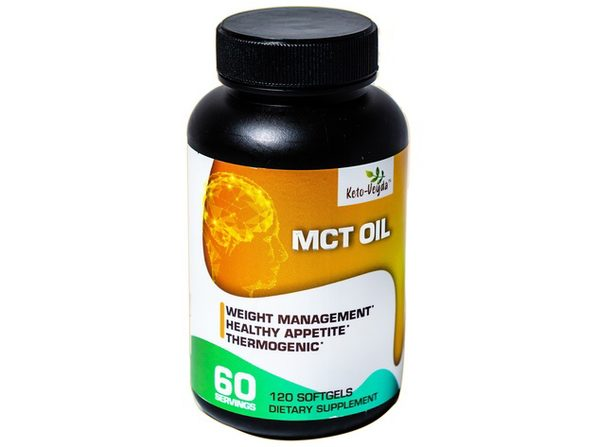 Ketoveyda MCT (Medium Chain Triglycerides) Oil Weight Management Thermogenic Dietary Supplement - 120 Softgels