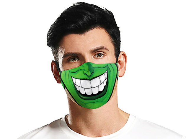 Halloween Reusable Cloth Face Mask (The Mask), on sale for $14.99 (40% off)