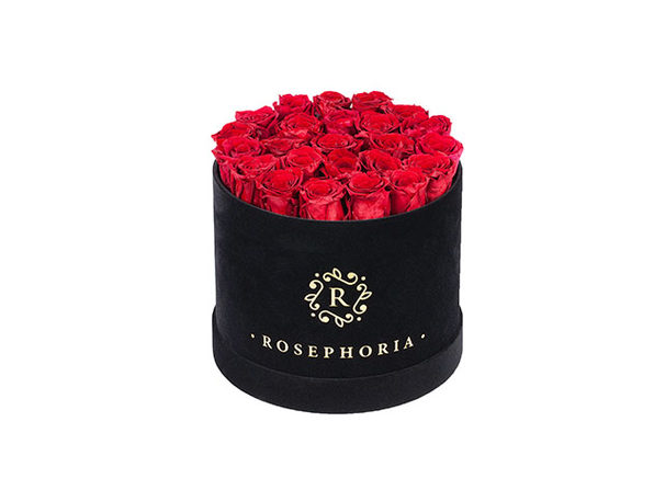 24 Roses Round Box - Red