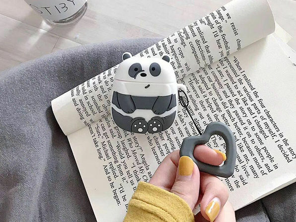 Animal Silicone Earphone Case for Apple AirPods (Panda)