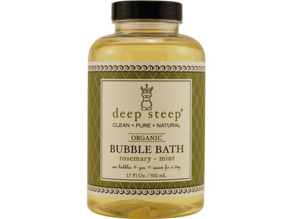 DEEP STEEP by Deep Steep ROSEMARY-MINT ORGANIC BUBBLE BATH 17 OZ for UNISEX ---(Package Of 2)