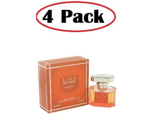 4 Pack of Sira Des Indes by Jean Patou Eau De Parfum Spray 1 oz - Product Image
