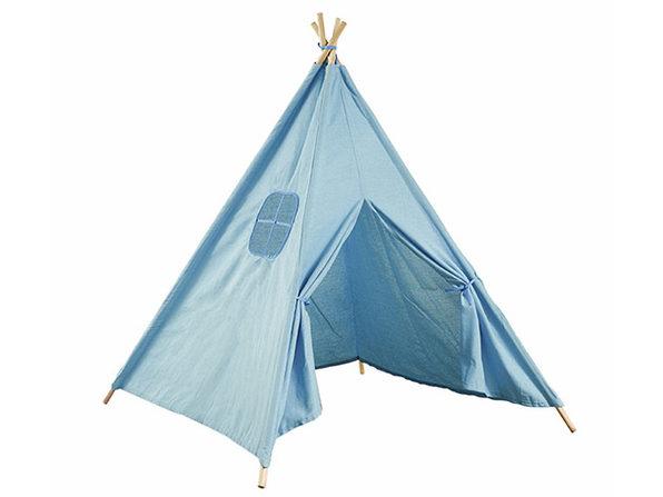 Kids Indoor Tipi Tent Blue - Product Image