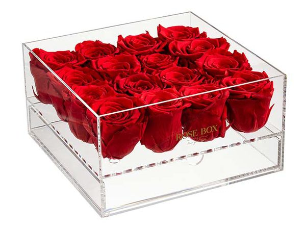 Rose Box™ Premium Jewelry Box & Everlasting Roses