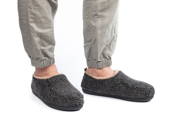 Men's Nomad Slippers with Memory Foam (Black, Size 9.5-10.5)