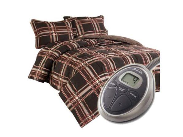 Sunbeam Premium Electric Heated Warming Comforter Set w Pillow Sham - Full/Queen