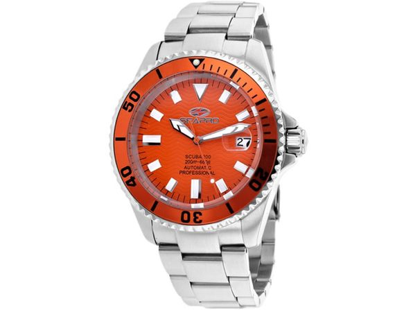 Seapro Men's Scuba 200 Orange dial watch - SP4315