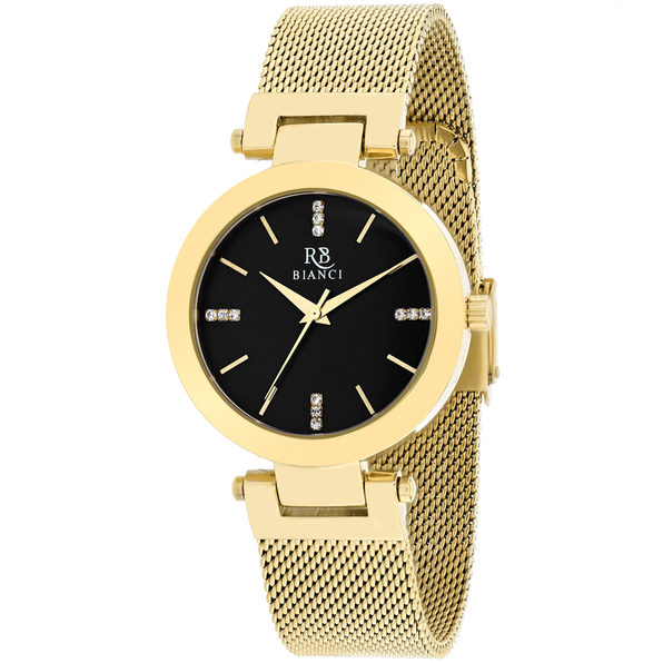 Roberto Bianci Women's Cristallo Black Dial Watch - RB0408