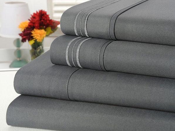 Bamboo Comfort 4-Piece Luxury Full Sheet Set (Gray)