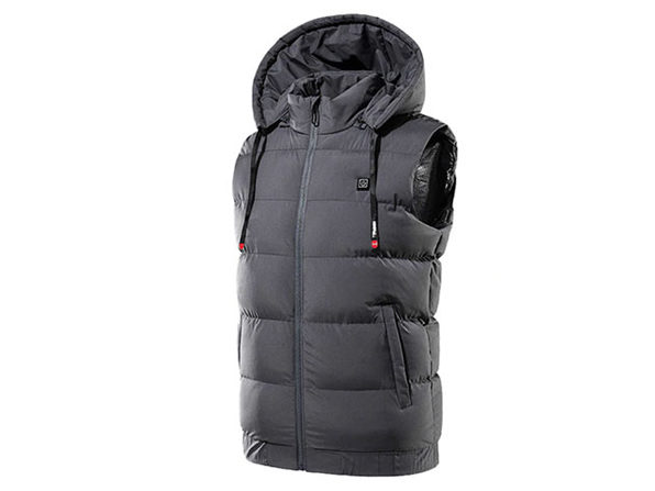 Thermal Waterproof Heated Hooded Vest (6XL/Gray)