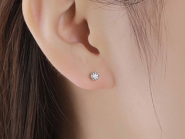 Essentials 0.25CT Lab-Grown Diamond Solitaire Earrings in 10K White Gold