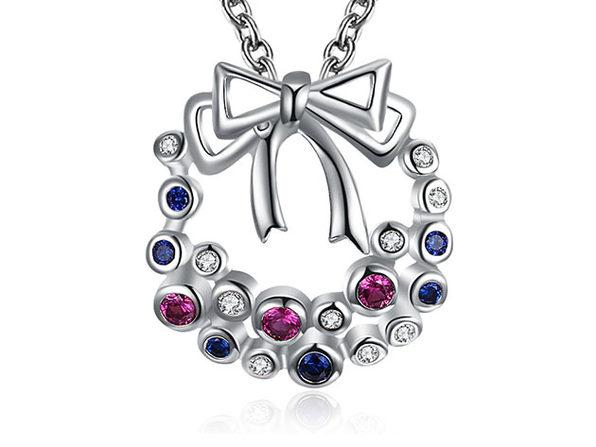 Misletoe Necklace with Rainbow Swarovski Elements