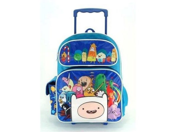 """Adventure Time Large 16"""" Rolling Backpack - Blue - Product Image"""