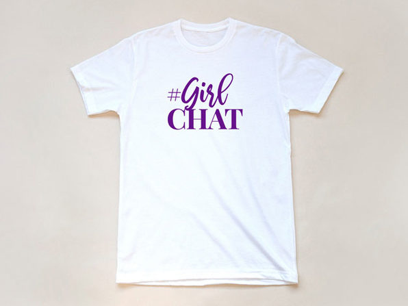 The Real GirlChat White T-Shirt