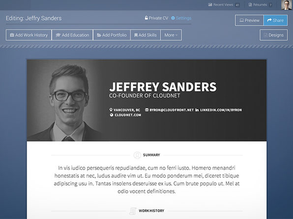 VisualCV: A Lifetime Of Online Resume Building | StackSocial