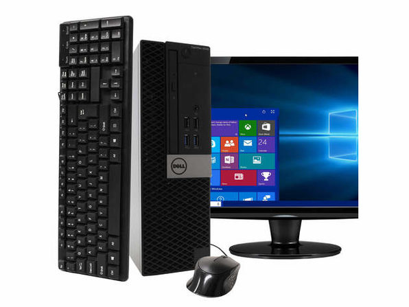 "Dell Optiplex 5040 Desktop PC, 3.2GHz Intel i5 Quad Core Gen 6, 16GB RAM, 1TB SATA HD, Windows 10 Home 64 bit, 19"" Widescreen Screen (Renewed)"