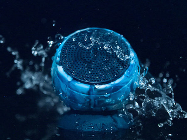 The Barnacle Vibe 2.0: 100% Waterproof Speaker (Manta Ray Black)
