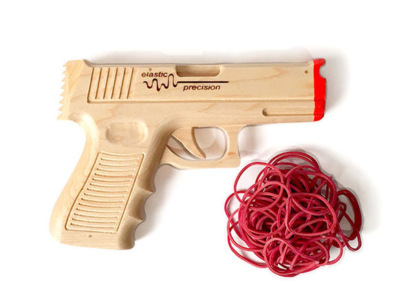 Elastic Precision Model 9MM Rubber Band Gun + Extra Ammo