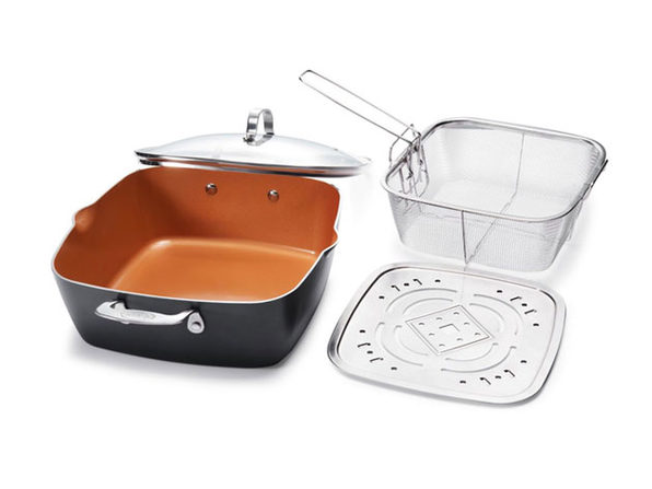 "Gotham Steel 11"" Square All-In-One 4-Piece Pan Set"