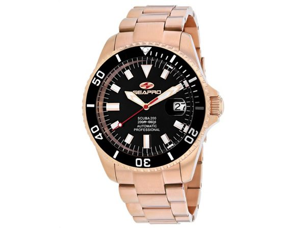 Seapro Men's Scuba 200 Black Dial Watch - SP4322