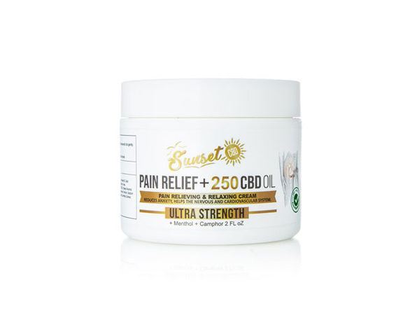 Sunset CBD Pain Relief Cream 250MG - Product Image