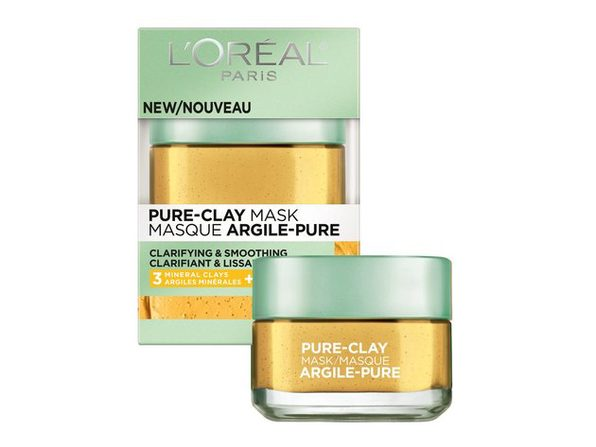 L'Oréal Paris Skincare Pure-Clay Face Mask with Yuzu Lemon for Rough Skin to Clarify & Smooth, 1.7 oz. - Product Image
