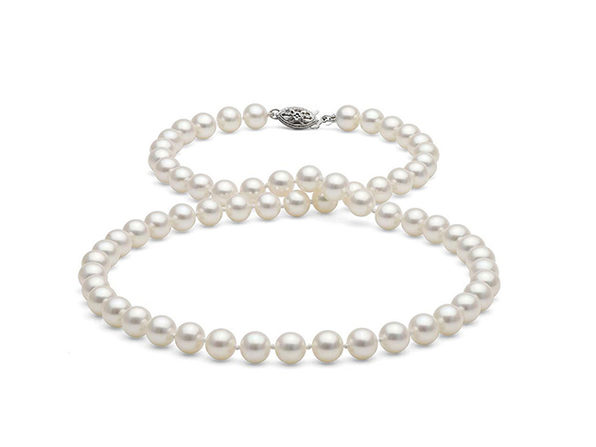 White Freshwater AAA-Quality Pearl Necklace