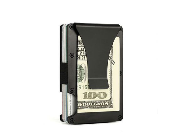 Minimalist Aluminum RFID-Blocking Wallet