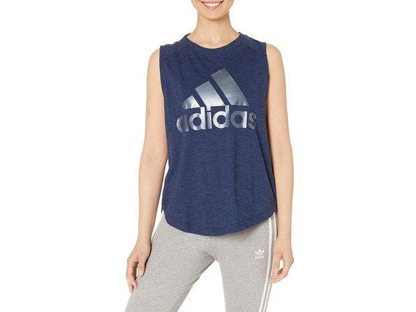 Adidas Women's ID Logo Tank Top Navy Size Medium