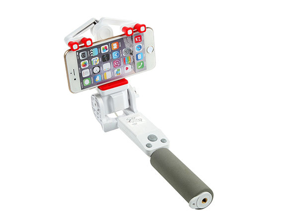 360 Deg. Panoramic Robotic  Selfie Stick - White - Product Image
