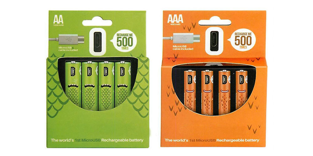 Two packs of rechargeable batteries