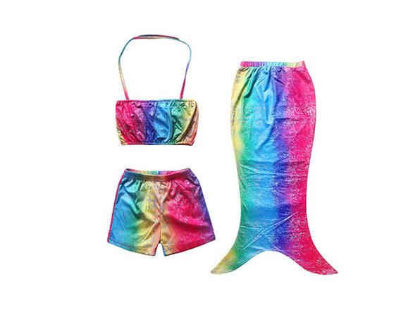 Girls Mermaid Swimsuit Set (XL)