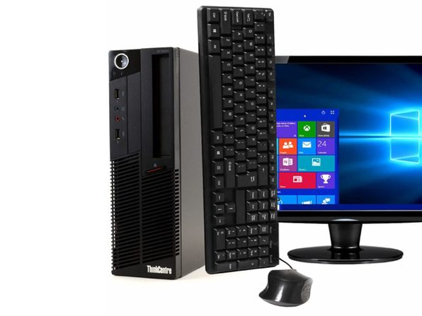 "Lenovo ThinkCentre M90 Desktop PC, 3.1 GHz Intel i5 Dual Core Gen 1, 8GB DDR3 RAM, 1TB SATA HD, Windows 10 Professional 64 bit, 22"" Screen (Renewed)"
