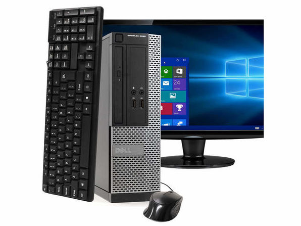 "Dell OptiPlex 3020 Small Form Factor PC, 3.2GHz Intel i5 Quad Core Gen 4, 8GB RAM, 120GB SSD, Windows 10 Home 64 bit, 22"" Screen (Renewed)"