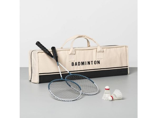 Hearth & Hand with Magnolia Badminton Game, Includes 4 Racquets and 2 Shuttlecocks (New Open Box) - Product Image